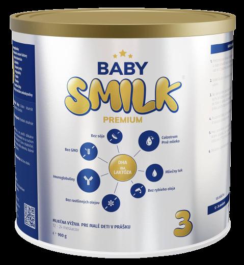 Babysmilk Premium 3 mliečna výživa pre malé deti v prášku s Colostrom 12 - 24 mesiacov 900g