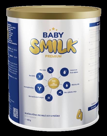 Babysmilk 4 Premium Mliečna výživa pre malé deti v prášku s Colostrom od 24 mesiace 400g