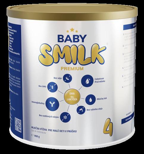 Babysmilk 4 Premium Mliečna výživa pre malé deti v prášku s Colostrom od 24 mesiace 900g