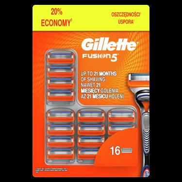Gillette Fusion Náhradné hlavice 16ks